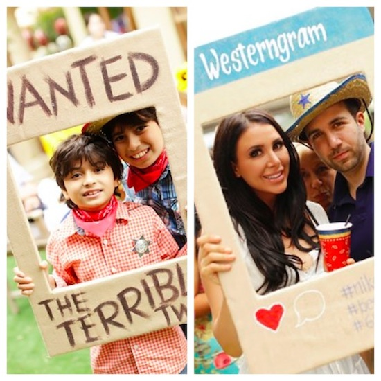 kids-party-western-themed-photo-booth